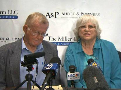 Alva y Alberta Pilliod, ambos diagnosticados con linfoma no Hodgkin (LNH). En vídeo, declaraciones de la pareja y de su abogado.