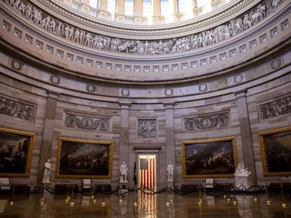 La Rotonda del Capitolio, localizada justo debajo de la gran cúpula del edificio.