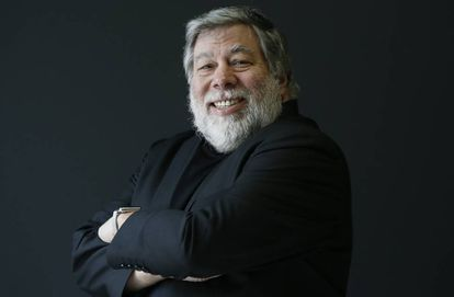 Steve Wozniak, cofundador de Apple, en una visita a Madrid.