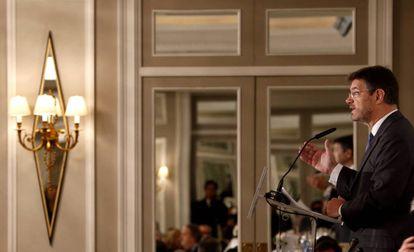 El ministro de Justicia, Rafael Catalá, este viernes durante su intervención.