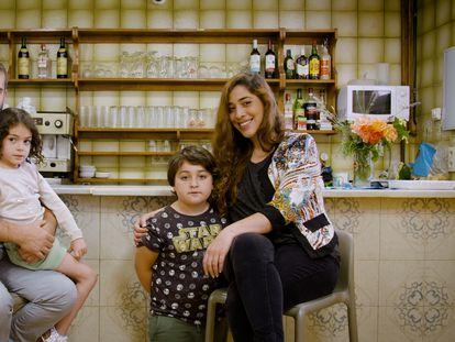 Fernando Munizaga, Rocío del Valle y sus hijos, Nina y Benicio.