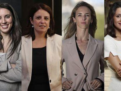 Álvarez de Toledo (PP), nombrada este martes, acompañará a Lastra (PSOE), Arrimadas (Cs) y Montero (UP)