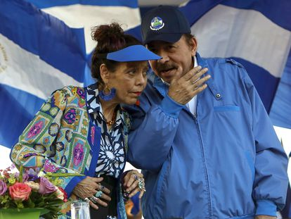 Daniel Ortega y Rosario Murillo, en una imagen de archivo.