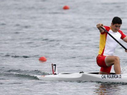 David Cal, en la final de C1 1.000 metros.