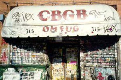 Fachada que tenía el CBGB.