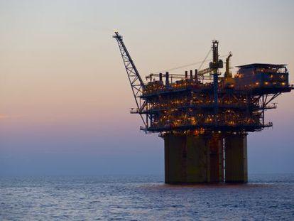 Plataforma petrolífera de Repsol en el Golfo de México.