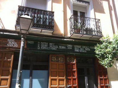 Fachada del espacio Nadie Nunca Nada No en Madrid.