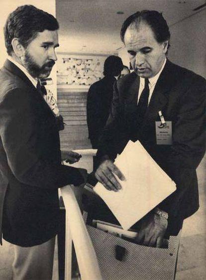 Joan Lerma y Rafael Blasco, en junio de 1988.