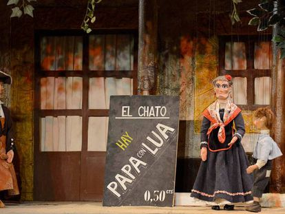 Momento de la representación de títeres con Tía Norica.
