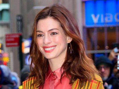 Anne Hathaway, el 23 de enero en Nueva York.