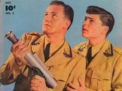 Al Hodge y Don Hastings, en la portada de un cómic de 'Captain Video and His Video Rangers'.