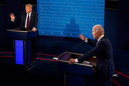 Imagen de archivo del primer debate entre Donald Trump y Joe Biden.