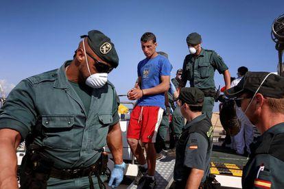Emigrants arrestados al Arxipèlag de Cabrera el 2014.