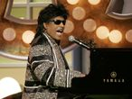 "FILE PHOTO: Singer Little Richard performs a musical tribute to producer Don Cornelius creator and producer of the television music show ""Soul Train"" at the 3rd annual TV Land Awards in Santa Monica, California March 13, 2005. Cornelius was honored with the Pop Culture award at the awards show which honors classic television shows and performers. The 3rd annual TV Land Awards will be telecast in the United States on the TV Land cable channel March 16. REUTERS/Fred Prouser  FSP -/File Photo"