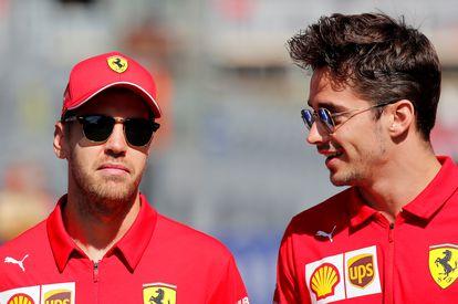 Vettel y Leclerc durante el GP de Rusia, en septiembre de 2019.