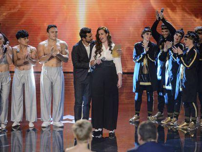 La concursante Robin Dee en una de las galas de 'Got Talent'.