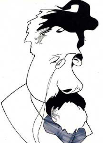 El escritor ruso Antón Chéjov (29 de enero de 1860-2 de julio de 1904) visto por Loredano.