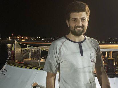 Ali Maray, tras desembarcar del 'Open Arms' en Lampedusa. En vídeo, resumen de los 20 días en el mar del 'Open Arms'.