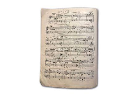 Partitura del segundo movimiento de la Tercera sonata de Chopin.