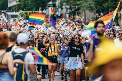 Manifestación del Orgullo en Montreal (Canadá), el 18 de agosto.