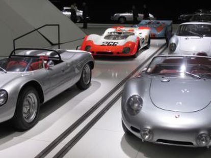 Algunos de los modelos históricos de la casa Porsche