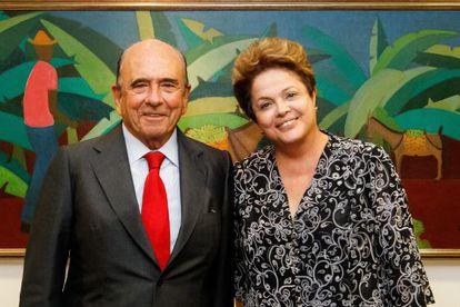 Dilma Rousseff y Emilio Botín, en Brasilia.