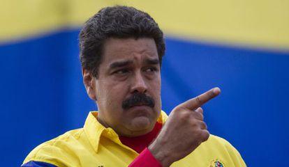 El presidente venezolano Nicolás Maduro en un acto político.