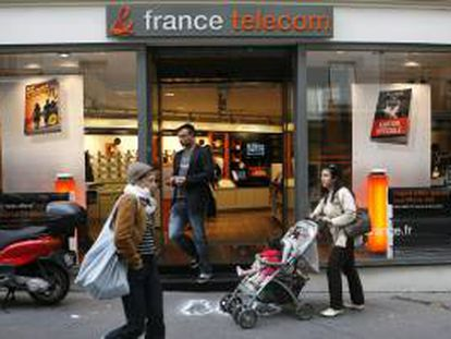 Vista de una sucursal del operador francés France Télécom en París, Francia. EFE/Archivo