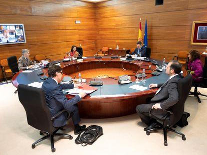 La reunión del Consejo de Ministros de este martes.