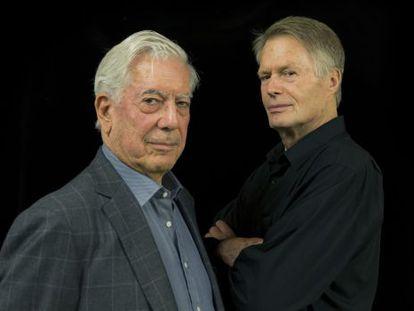 Los escritores Mario Vargas Llosa y Jean-Marie Gustave Le Clézio.
