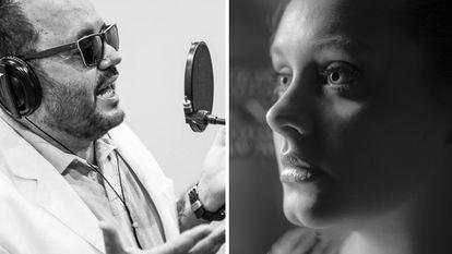 El compositor brasileño Toninho Geares y la cantante Adele.