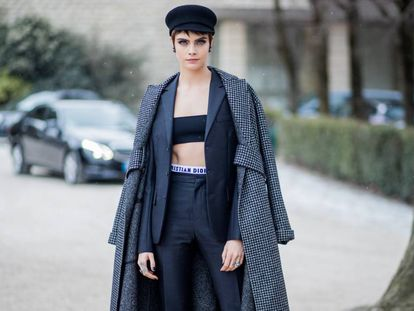 Cara Delevingne en París durante la Semana de la Moda el pasado mes de febrero