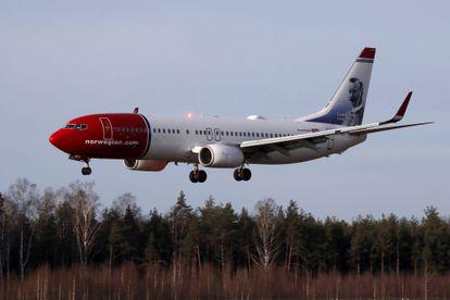 Un 737 de Norwegian aterriza en Riga (Letonia), en enero pasado.