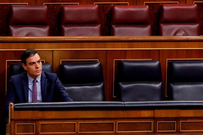 Pedro Sánchez, este miércoles, en el Congreso. ANDRÉS BALLESTEROS.