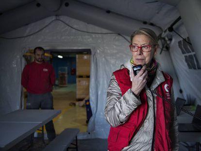Pruebas de despliegue del equipo Start de emergencias de la AECID el pasado febrero en Madrid.