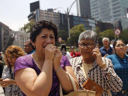 Escenas de pánico en Ciudad de México.