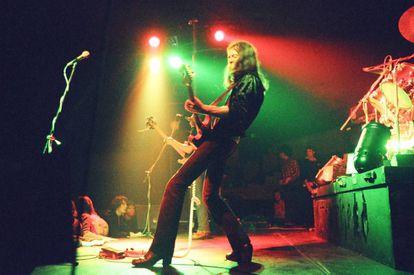 Motörhead en un concierto en 1977.