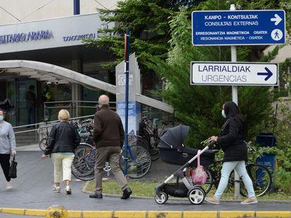Hospital de Txagorritxu (Vitoria), este martes.