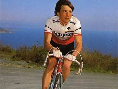Carlo Tonon, durante el Tour de Francia de 1984