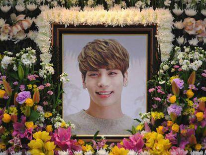Altar dedicado a Kim Jong-Hyun, cantante de Shinee, por su muerte.