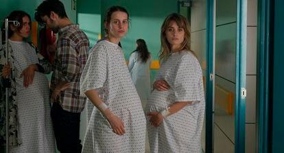Milena Smitt, left, and Penelope Cruz, in 'Parallel Mothers', by Pedro Almodóvar.