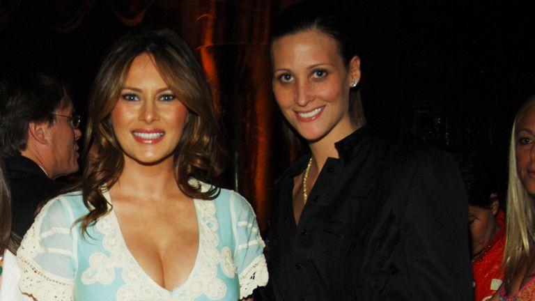 Melania Trump y Stephanie Winston Wolkoff, en Nueva York en 2006.