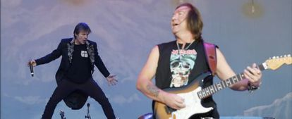 Iron Maiden performance at Sonisphere in 2019.