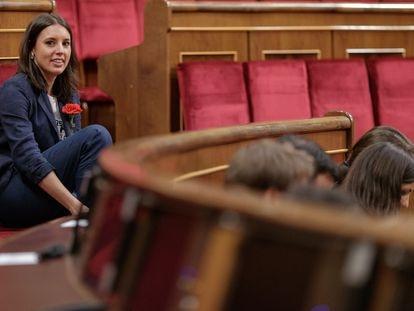 Irene Montero, en el Congreso de los Diputados, en una imagen de archivo.