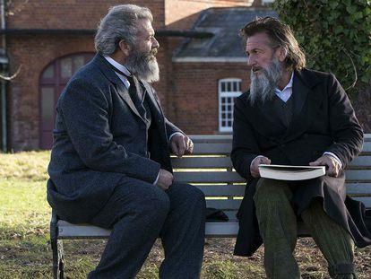 Mel Gibson y Sean Penn, en la película.
