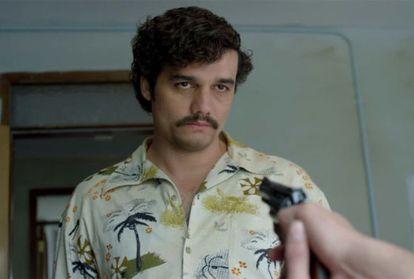 Wagner Mora como Pablo Escobar, en 'Narcos'.