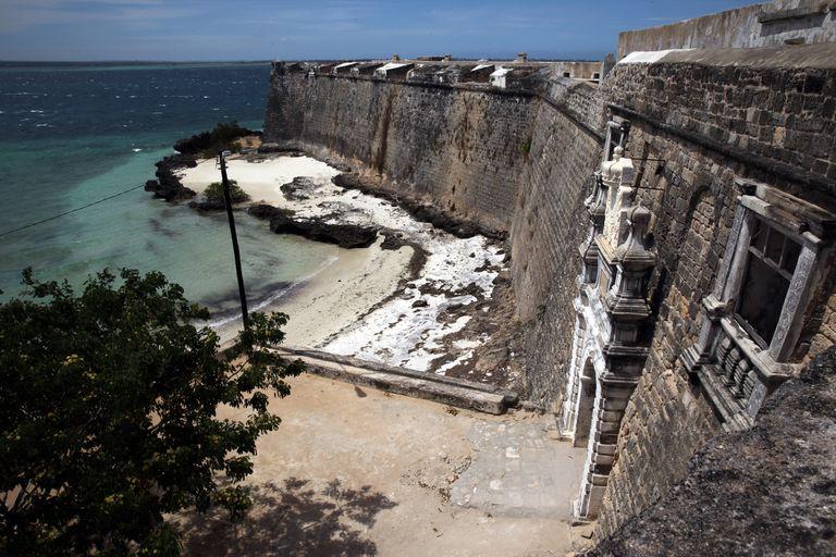 Fortaleza de San Sebastián, en Mozambique, construida por los portugueses para encerrar a esclavos negros.