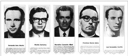 Dirigentes de CC OO procesados por el TOP y condenados a penas de entre 12 y 20 años de prisión.