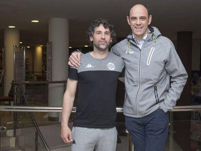 Juanín García y Jota Hombrados, en Alicante un día antes del inicio de la Copa del Rey de balonmano,