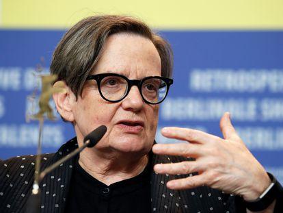 Agnieszka Holland, durante la promoción de 'Charlatan' en la Berlinale, el pasado febrero.